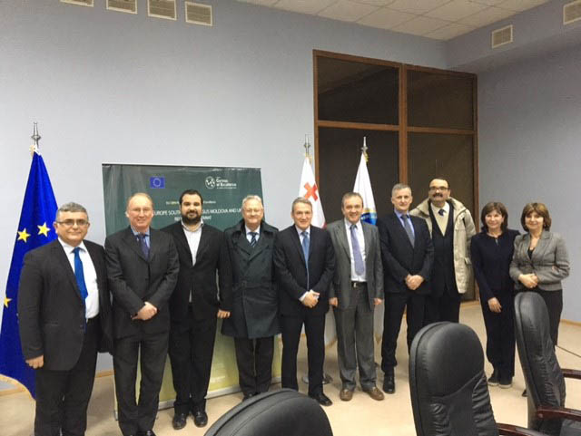 Members of the ISTC and STCU Executive Boards visit the EU CBRN SEEE Centre of Excellence Regional Secretariat in Tbilisi